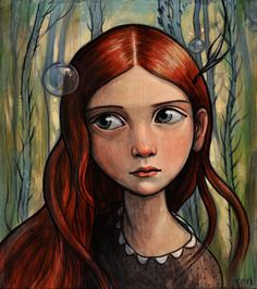 Kelly Vivanco - Art  I adore Kelly's work. Some day I hope to commission her to paint my sister and I as kids.