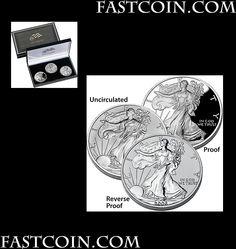 *2006 Silver Eagle 20th Anniversary 3 Coin Set Rancho Santa Margarita, Proof Coins, Silver Eagles, 20th Anniversary, 20th Birthday, 20 Year Anniversary