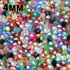 JHNBY 4mm 100pcs AAA Bicone Austrian crystals loose beads ball supply AB color plating ,bracelet necklace Jewelry Making DIY #Affiliate