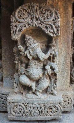 Travel logs, impressions and sporadic thoughts of an intermittent traveler . Ganesha Painting, Ganesha Art, Sri Ganesh, Indian Temple Architecture, Art And Architecture, Ancient Architecture, Asian Sculptures, Saraswati Goddess, Hindu Statues