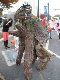 Cool Walking Tree Costume on Stilts...