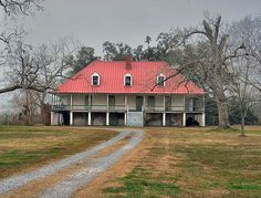 Louisiana Creole-style plantation house.