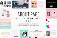 About Page Template Bundle by Seaside Creative on @creativemarket