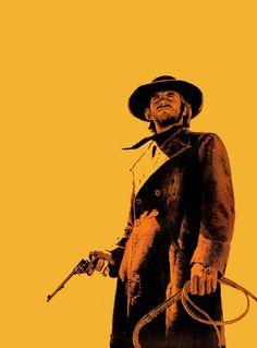 Western Film, Western Art, Movie Poster Art, New Poster, Clint Eastwood Poster, Power Rangers, High Plains Drifter, Dbz, Sketch Tattoo Design