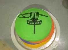 Disc Golf Cake