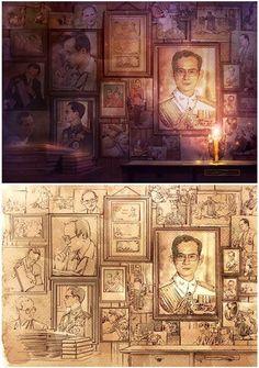 King Bhumipol, King Rama 9, King Of Kings, King Queen, King Thailand, Thailand Art, King Painting, Bhumibol Adulyadej, Great King