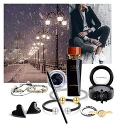 """""""Multiple spark in the winter"""" by an-e ❤ liked on Polyvore featuring Salvatore Ferragamo, MAC Cosmetics, Goldmajor, Shaun Leane, David Yurman, Bulgari, Mark & Graham, Maybelline, multiple and winterstyle"""