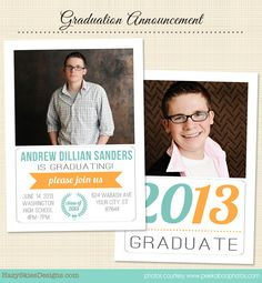 Graduation Announcements  Etsy  Senior Picture Ideas