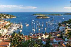#Split Marina from above. Perfect morning view ! #YachtcharterKroatien #YachtcharterSplit