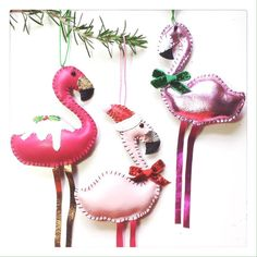 Kitschmas Christmas Leather Flamingo Tree by LoveFromHettyandDave