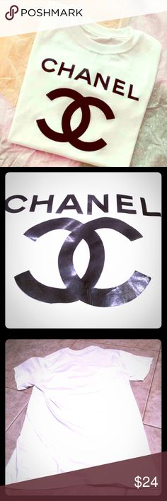🖤CHANEL Double C Top CHANEL Double C T-shirt, O/S. Unisex sizing, so the fit is just a regular fit, not fitted. (Fits like a medium). Smoke/pet free. PRICE IS FIRM‼️ CHANEL Tops Blouses