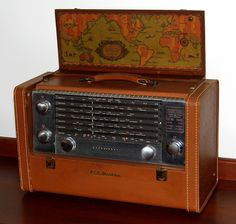 Vintage RCA Victor Strato-World Portable Radio, Model Radios, Poste Radio, Vintage Television, Antique Radio, Short Waves, Record Players, Televisions, Phonograph, Tecnologia