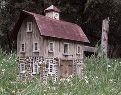 OMG these are the best best best houses on this site! Original Folk Art Birdhouses by Gary Anawalt