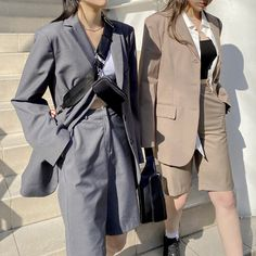 Classy Outfits, Chic Outfits, Fashion Outfits, Suits Korean, Look Dark, Korean Girl Fashion, Suit Fashion, Korean Outfits, Suits For Women