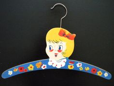 Vintage Childs Painted Wooden Clothing Hanger by SongbirdSalvation, $25.00