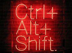 'CTRL+ ALT+ SHIFT' -NEON SIGN ๑෴MustBaSign෴๑