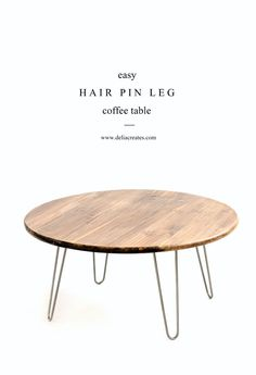 Hairpin Leg Coffee Table TUTORIAL // www.deliacreates.com