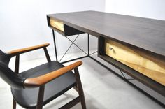 desk made in 50s. beautiful design.