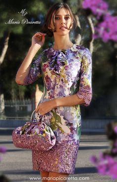 Vestidos de Fiesta de María Picaretta Classy Outfits, Pretty Outfits, Beautiful Outfits, Nice Dresses, Short Dresses, Formal Dresses, Dress Outfits, Fashion Dresses, Floral Fashion