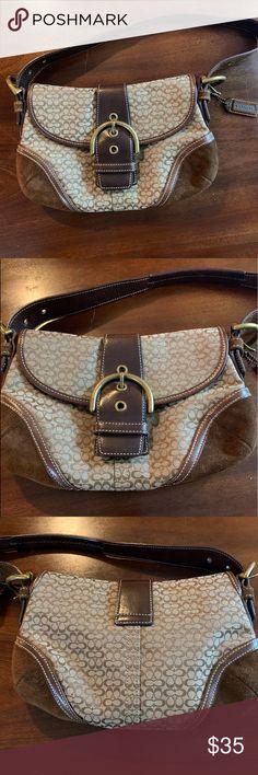 Like new small Coach Hobo shoulder bag with flap EUC Coach Hobo 6818 bag.  Signature 6bbb2090efac9