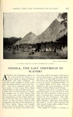 Portuguese colony in West Africa, Angola ~ The National geographic magazine (1888); volume 21, 1910 edition