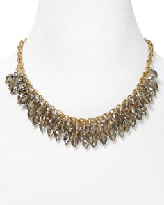 "ABS by Allen Schwartz Chain Beaded Frontal Necklace, 16""   Bloomingdale's"