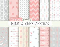Arrows digital paper: BLUE ARROWS backgrounds with arrow by Grepic
