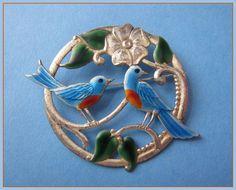 vintage enamel bird brooch - Google Search