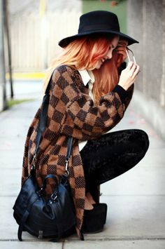 Luanna Perez gorgeous vintage oufit. her hair is to die for!