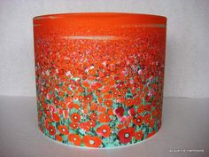 Poppy Lampshade by Smart Deco | Lighting. Art printed fabric professional rolled edge drum lampshade 30 x 30cm £75