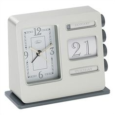 Bank Calendar Alarm Clock