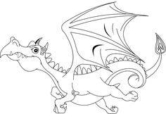 Kids Coloring Page Dragon Pages For Free