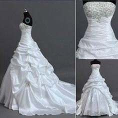 New White/Ivory Wedding Dress Bridal Gown Custom Stock Size: 6 8 10 12 14 16 18+ #newweddingdress