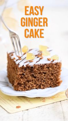 This easy Ginger Cake is moist, fragrant and insanely delicious! The best ginger cake recipe whether making a sheet or loaf cake, no mixer required. Perfect for Bonfire night or Christmas though ginger fans will want to bake it year-round. Cake Recipes Ginger, Ginger Loaf Cake, Homemade Cake Recipes, Easy Fruit Cake Recipe, Easy Christmas Cake Recipe, Spice Cake Recipes, Christmas Desserts, Easy Desserts, Delicious Desserts