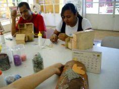 aula de mosaico,com professor Roberto