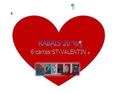 """Rabais 20 % - 6 cartes pour la St-Valentin   Format des cartes : 4"""" x 6"""" (10,16 x 15,24 cm), sur carton de type Cool white avec enveloppe blanche.  L'image représente une photo d'une toile réalisée par l'artiste Lucy Patoine. Inscrivez votre propre message. Pour vous inspirer, nous vous invitons à télécharger des textes sur le thème de l'amour pour la St-Valentin. Vous retrouvez """"Les carnets de Madame Paraci"""" sur notre boutique en ligne www.conceptionidecrea dans la section """"St-Valentin"""" Inspirer, Messages, Madame, Etsy, Love Text, Pretty Cards, Notebooks, Texts, Envelope"""