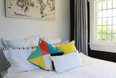 Projects - Lou Brown Design with Hayley Brown, Interior Designer, Auckland Bungalow Renovation, Renovations, Interior Styling, Bed Pillows, Bean Bag Chair, Beautiful Homes, Interior Design, Home Decor, Throw Pillows
