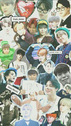 BTS Jimin collage wallpaper