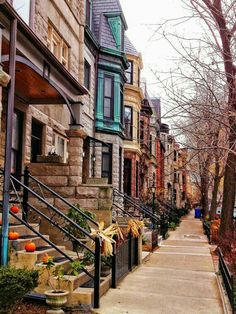 Brownstone Buildings-Lincoln Park x 10 FIne Art Photography-Home Decor-Office Decor-Chicago Wall Art Photographie New York, Lincoln Park Chicago, Voyage New York, Chicago Illinois, Chicago Usa, Chicago Travel, Chicago City, City Living, New York