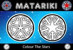 Matariki – Colour the Stars School Resources, Teacher Resources, Classroom Resources, Colouring Pages, Coloring Sheets, Goal Setting Template, Art Template, Templates, Food Art For Kids