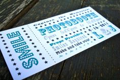 Photobooth Ticket