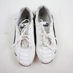 be9b2429d4e Puma Kids Soleil Cat Sneaker Shoes Size 5 White Black Lace Up Sports Life  Style