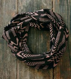 Illusion Waves Lightweight Infinity Scarf by Maelu on Scoutmob Shoppe Cute Scarfs, Sheer Material, How To Wear Scarves, Basic Outfits, Red Pattern, Comfortable Fashion, Cute Fashion, Playing Dress Up, Black Fabric