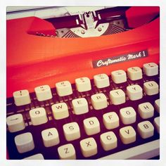 Orange you glad they make this color of typewriter?