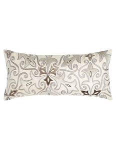 """Sonata 31"""" x 14"""" Embroidered Pillow at Horchow."""