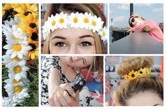 DIY: Couronne de fleurs + Coiffures!