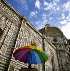 Umbrella in front of Duomo ,Florence, Italy