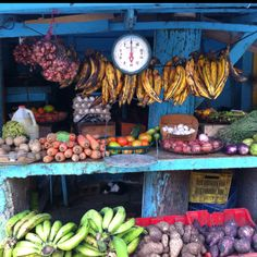 Fruit stand.  Dominican republic