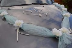 Wedding car ribbon kit with roses, garland Unique and exclusive wedding decoration Made of high quality roses (artificial), and organza ribbon. Wedding Car Ribbon, Wedding Vans, Disney Birthday Card, Race Car Birthday, Wedding Car Decorations, Ribbon Decorations, Wedding Blog, Dream Wedding, Wedding Ideas