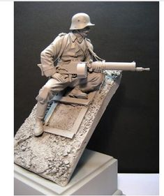 Wholesale Product Snapshot Product name is Assembly Unpainted Scale 1/16 120mm German Army 120mm soldier figure Historical WWII Resin Model Miniature Kit